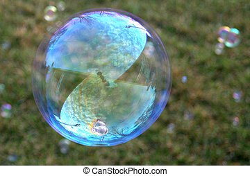 Bubble floating in the air
