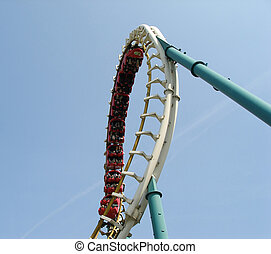roller coaster - Loop of the roller coaster