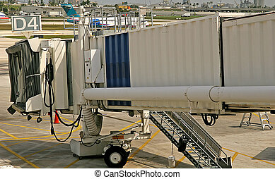 Jetway - A jetway for a commercial airliner at an airport