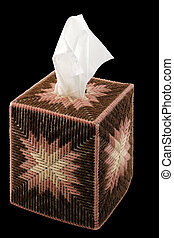 Tissue Box - Paper handkerchief in a decorative plastic...