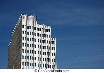 Futuristic Skyscrape - Futuristic White Skyscraper