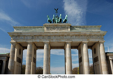 Berlin Landmark - brandenburg gate in berlin, germany, on a...