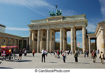 Berlin Landmark - Brandenburger Gate in Berlin, Germany