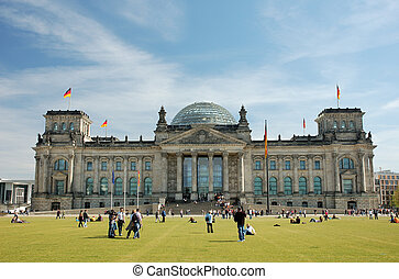 German Parliament, the Reichstag, Building in Berlin
