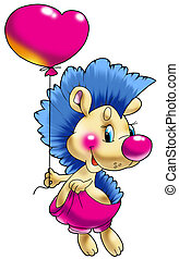 The cheerful hedgehog wit