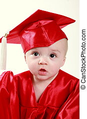 graduate - Smart baby graduating from daycare