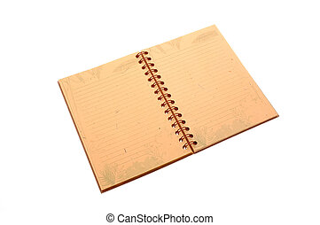 open Notebook - Open Field Notes notebook isolated over...