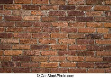 老, 磚, 牆