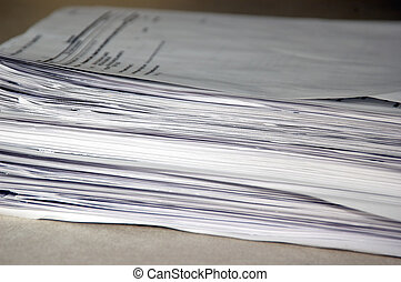 Pile of Papers - A pile of papers at a local office