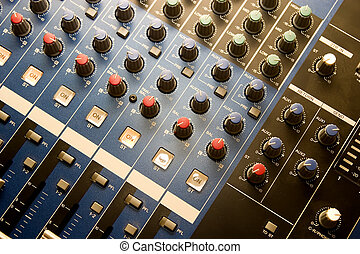 Music control panel device with lot of buttons