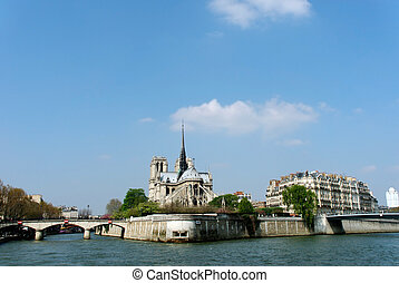 Paris, Notre Dame - Paris, cathedral Notre Dame our lady as...