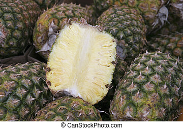 ananas - slice of ananas on the market