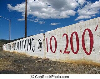 Leadville 8 - We Love Leadville sign in Leadville, CO.