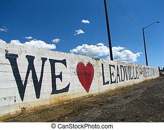 Leadville 9 - We Love Leadville sign in Leadville, CO.