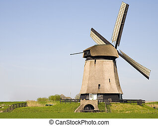 Dutch windmill 19 - Historic Dutch windmill