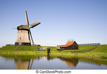 Dutch windmill 21 - Historic Dutch windmill