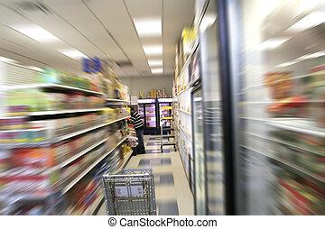 Un, hombre, es, compras