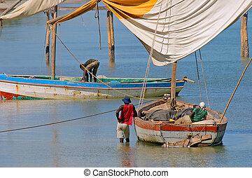 Mozambican, pescadores