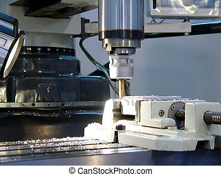 machine work - An industrial background machine work...