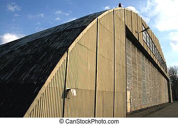 Hangar - Front door of hangar.