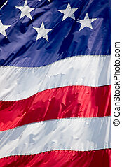 United States Flag Background - Tightly cropped photo of the...
