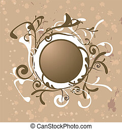 scrolling logo - A abstract background with scrolling brown...