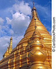 Stupa from the Paya Kuthodaw , Mandalay , Myanmar - Stupa...