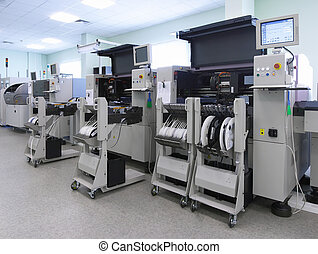 Automatic computer production line panorama