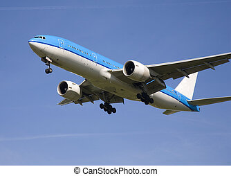 Airplane 10 - Airplane landing on Schiphol Airport,...