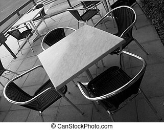 Cafe tables - Empty cafe tables