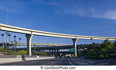 Highway Interchange above Palms - Maze of Highway...