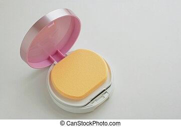 The facepowder, vanity case - A vanity case of facepowder...