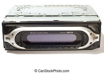 auto mp3 player  - series: object on white: auto mp3 player