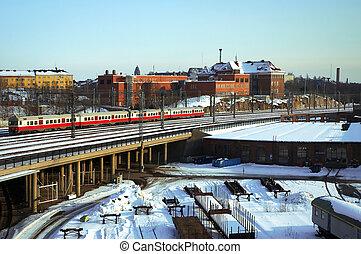 train tracks in helsinki