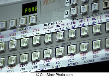 matrix buttons - television station equipment