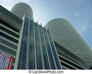 Nagoya Towers - Twin Towers of Nagoya station in Aichi...