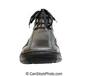 brown shoe - the brown shoe from leatheron white background