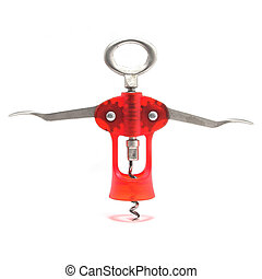 Corkscrew isolated in a white background