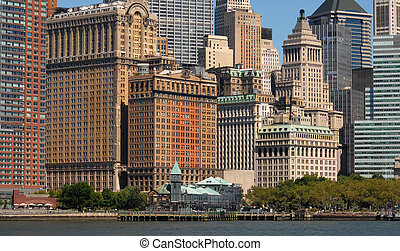 financial district - New York Citys financial district as...