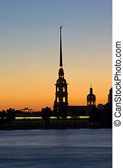 The white nights in Saint-Petersburg 1 - The cathedral and...