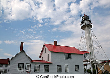 Light House - white fish point light house in michigan