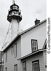 Light House - aN ABSTRACT OF Michigan White fish point light...