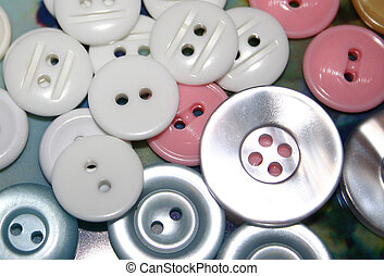 white buttons assorted sizes