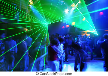 Party at Disco Music - Dancing Party at Disco music and...