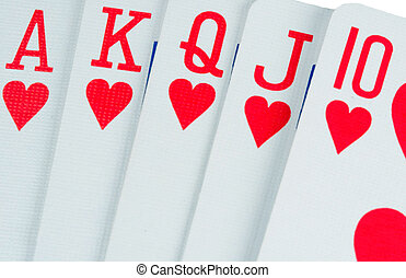 Poker Hand - A poker players best hand, the royal flush