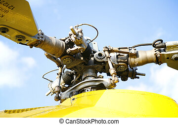 rotor of rescue helicopter