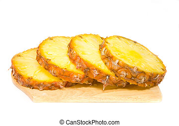 loubles of pineapple - the loubles of pineapple on wood...