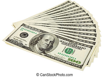 some US dollars - the some US dollars banknotes with...