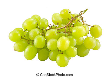 bunch of white grape - the bunch of white grape isolated on...