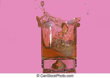aperitivo, vidro, esguichos